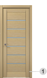 Millenium - solid wood door