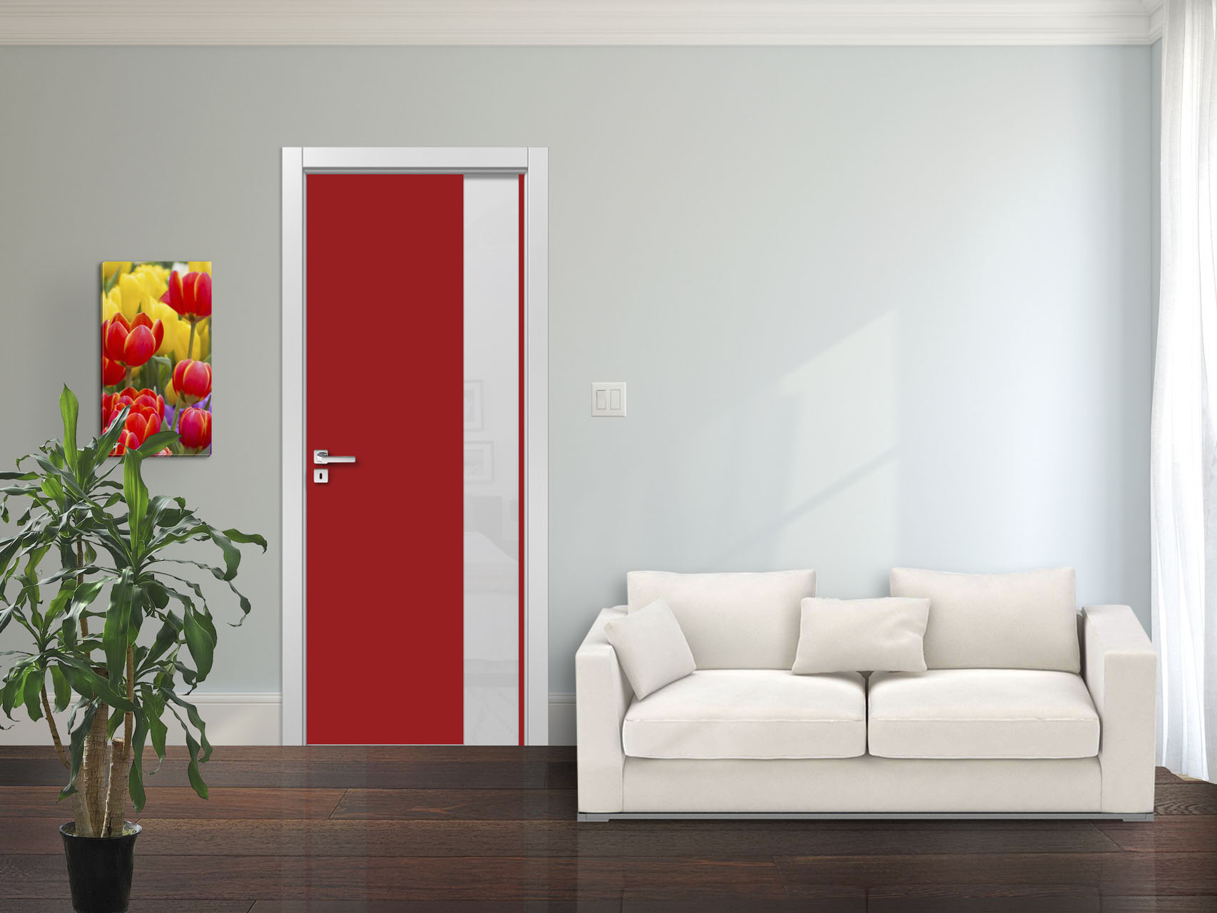 Red Interior Door Plato